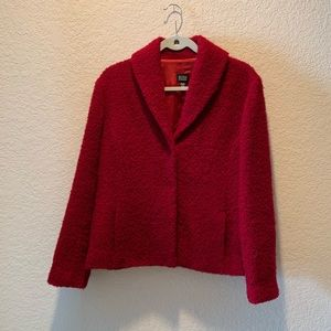 Eileen Fisher textured red jacket, size S